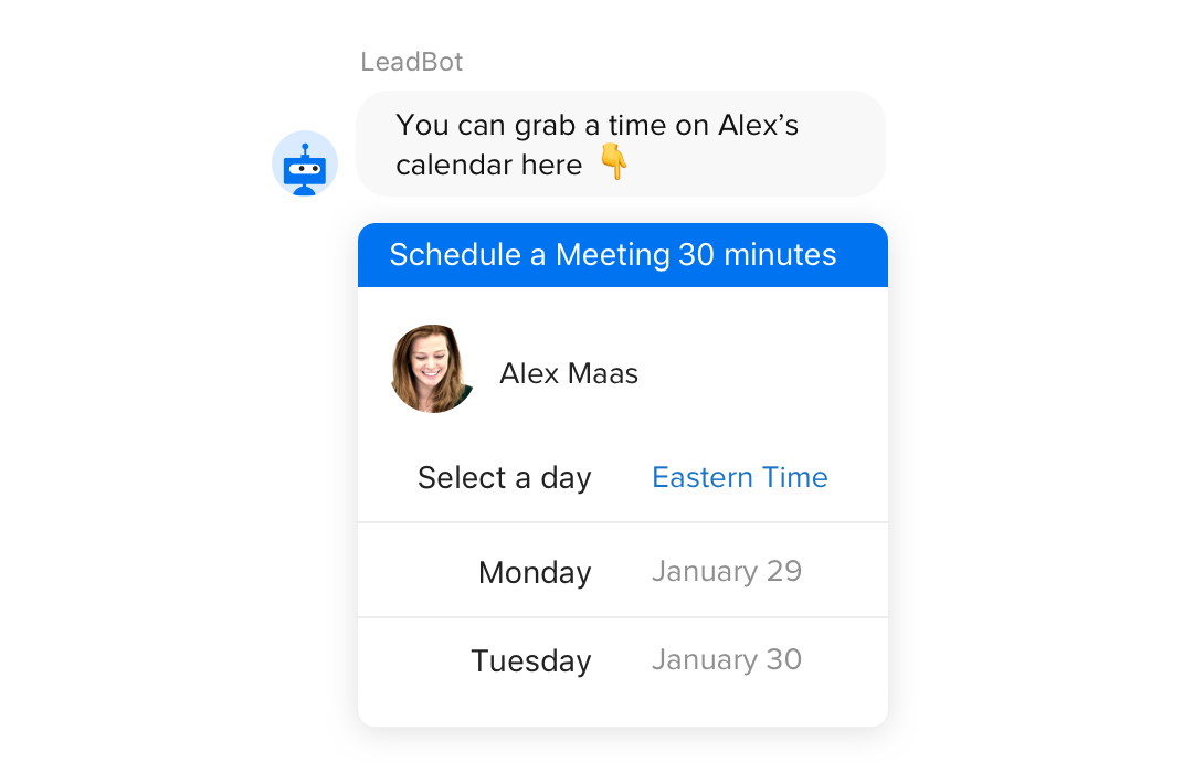 Book Meetings With Chatbots