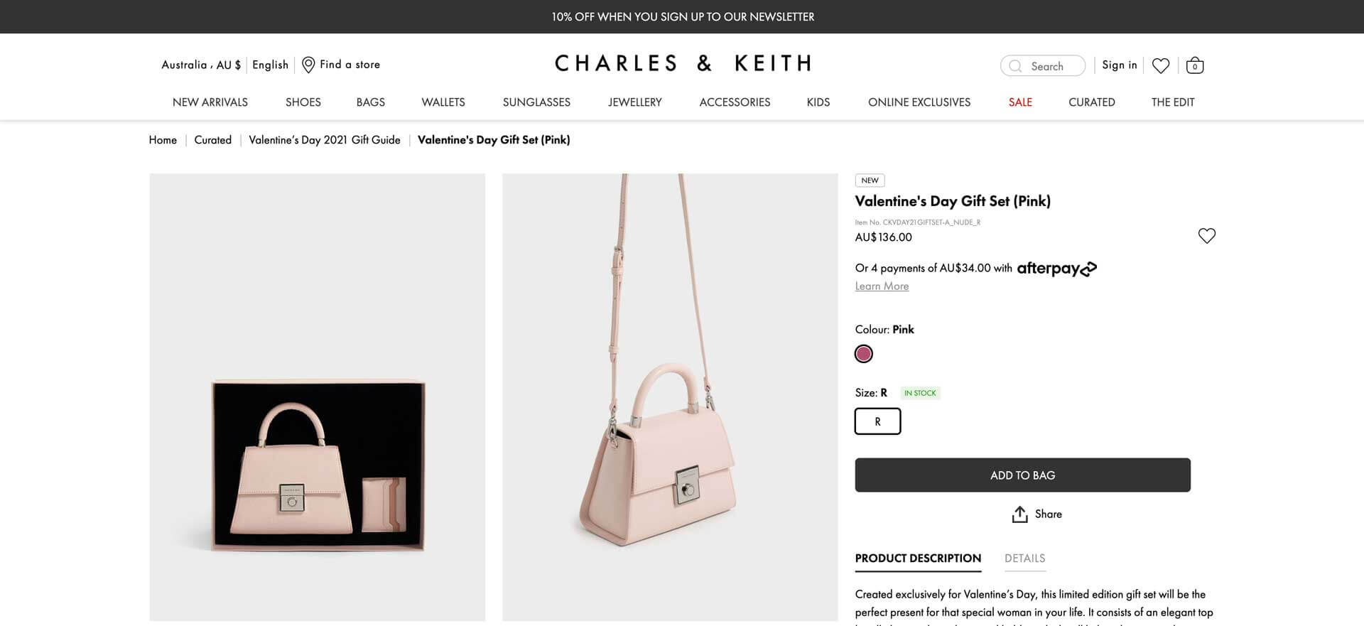Charles & Keith Valentines Day Gift Sets