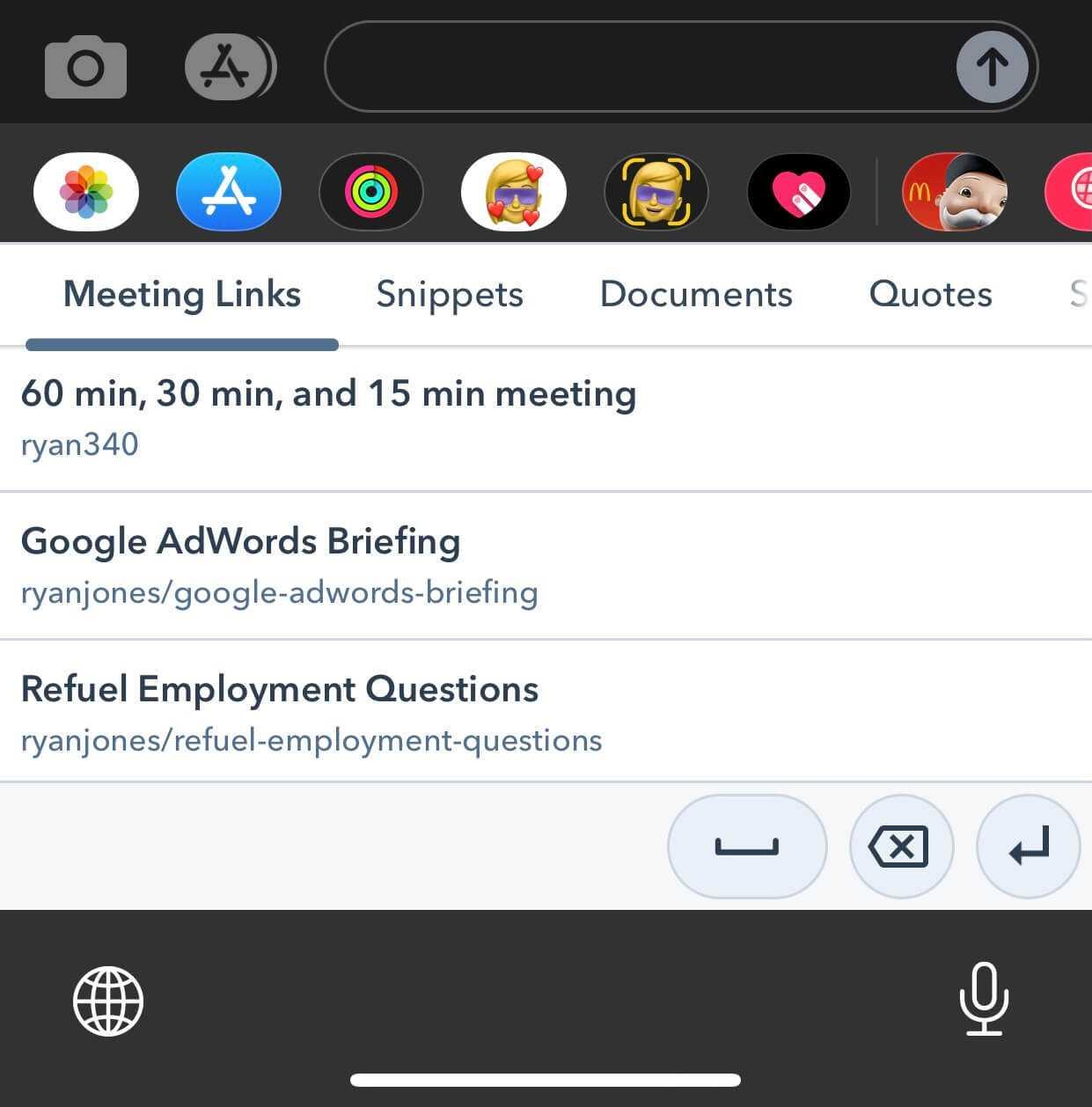 HubSpot Sales Keyboard on iOS
