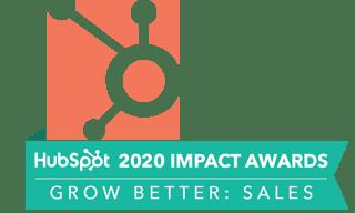 HubSpot 2020 Impact Awards Grow Better: Sales Winner