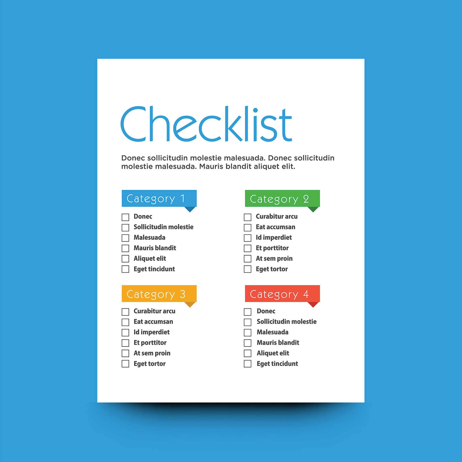 Testimonial checklists