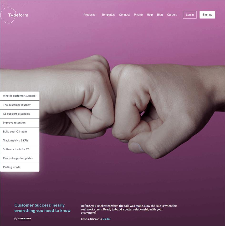 Typeform pillar page