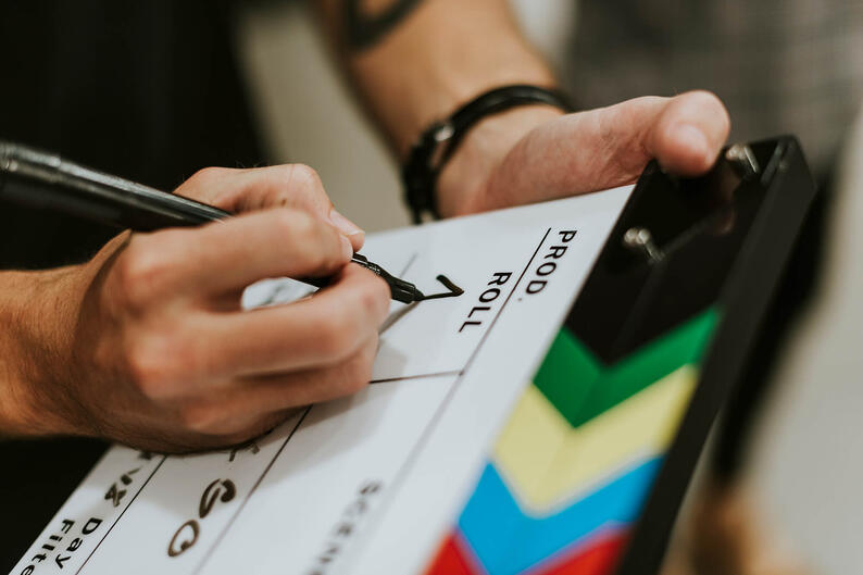 behind-the-scenes-with-a-clapper-board