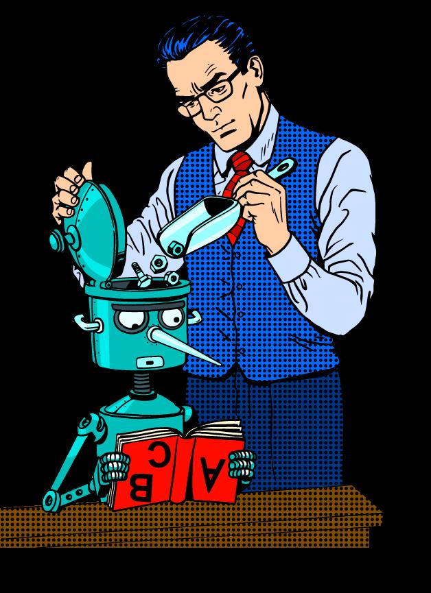 filling robot head