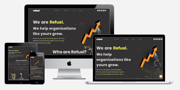 New Refuel Website Built in HubSpot COS