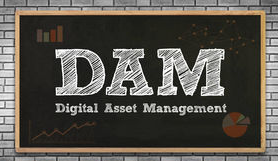 Digital Asset Managment written on a blackboard