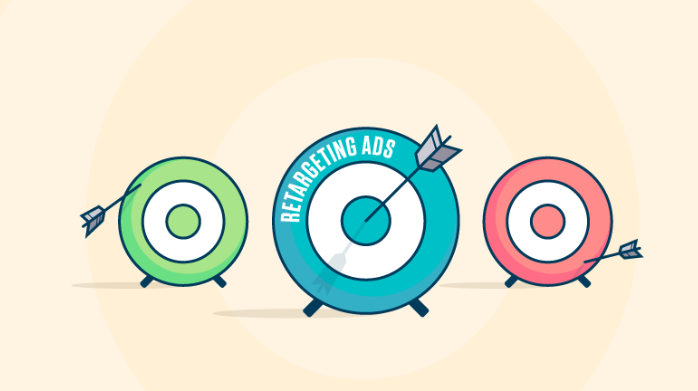 "3 targets, with an arrow hitting the centre of one that says ""Retargeting"""