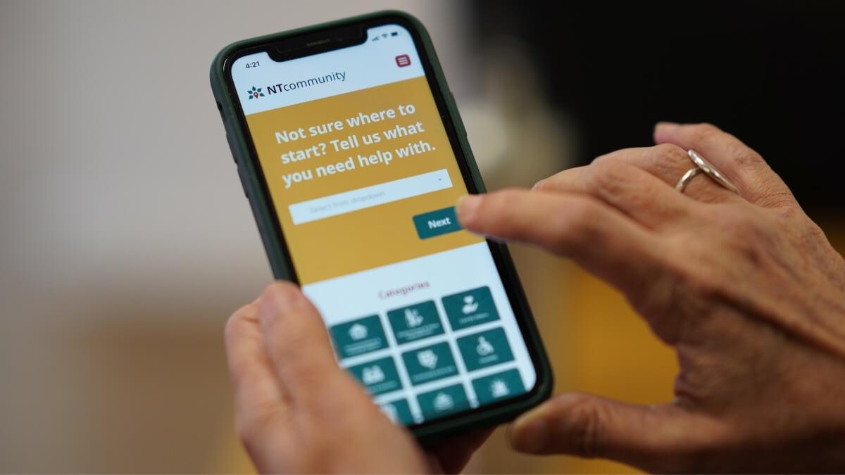 ntcommunity app in use on iPhone